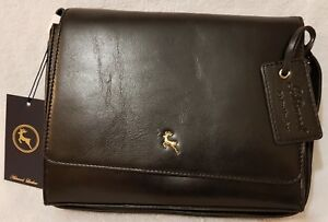 Ashwood Three Section Veg Tanned Small Leather Shoulder Bag - SIAN - Black