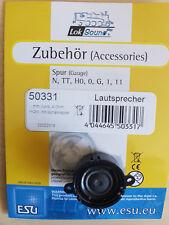 ESU 50331 Lautsprecher m.Schallkapsel 20mm rund, 10mm dick, 4 Ohm, 1-2W,  NEU