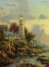"""Thomas Kinkade """"SEA OF TRANQUILITY"""" Lighthouse Cottage BOXLESS Puzzle *100%*"""
