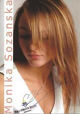 Autogramm AK Monika Sozanska Fechten Degen Vize-WM 2010, deutsche Meisterin Haar