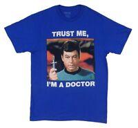 Star Trek Orignal Series Mccoy Trust Me I'M A Doctor Adult T Shirt