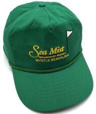 SEA MIST OCEANFRONT RESORT Myrtle Beach, SC green adjustable cap / hat golf