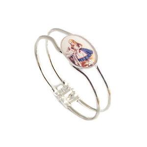Alice in Wonderland bracelet DRINK ME bangle silver eat me bottle mad hatter tea