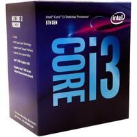 Intel Core i3-8100 Quad 4-Cores 3.6 GHz  LGA1151 Desktop Processor BX80684i38100