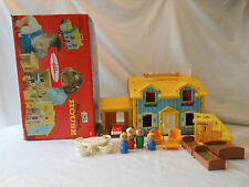 1969 Fisher Price Play Family House 952  box complete masonite