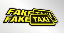 2 pcs Fake Taxi Sticker Decal Vinyl Car 270mm /10.5 ''