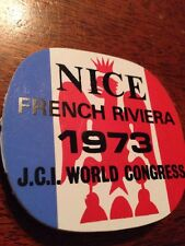 Jaycee Pin, Nice French Riviera 1973 J.C.I. World Congress Pin