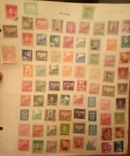 77 Collection Asia China Old Vintage Rare Stamps On Paper Excellent Condition