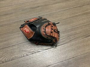 "Custom Rawlings Heart Of The Hide 34"" Catchers Mitt Baseball Glove Black Brown"