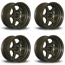 4 x Rota Grid-V Bronze Alloy Wheels 16x8"