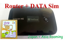 Japan/Asia Roaming ( Data Sim + Huawei Router) 8 Days 4GB 3G/4G Unlimited Data