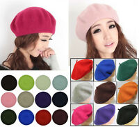 New Fashion Wool Warm Winter Hat Women Lady French Beret Beanie Hat Painter Cap