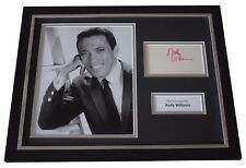 Andy Williams Signed FRAMED Photo Autograph 16x12 display Moon River Music COA
