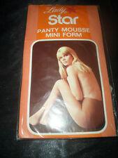 70er J. Vintage Lady Star Feinstrumpfhose Gr. M grau Panty Mousse Collant OVP