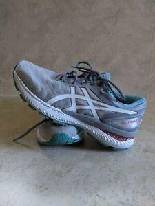 Asics Gel Nimbus 22 Women's Size 10 Running Shoes Gray Green