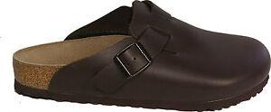 BIRKENSTOCK 060101 BOSTON dark brown leather REGULAR footbed NEW