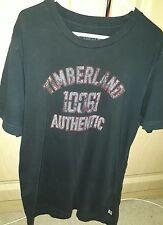 Men's Blue TIMBERLAND Casual Top / T-Shirt - Medium - Excellent