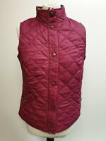 BB433 WOMENS JOULES RED DIAMOND QUILTED POPPER GILET BODYWARMER UK 10 US 6