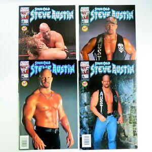 WWF Stone Cold Steve Austin 1b 2b 3b 4b (1999) Photo Covers Chaos B05
