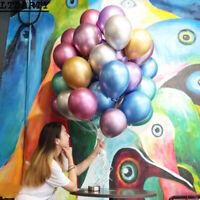 50pcs Latex Metallic Balloons 12 Inch Assorted Shiny Balloons Party Balloons