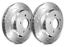 SP Performance Rear Rotors for 2015 GS450H  | Diamond Slot w/ Zinc C52-4189-P909