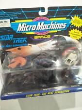 BNIB Star trek Micro Machines 3pk ships Ferengi Borg Cube & Shuttle Craft 1701