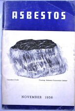 ASBESTOS Catalog PABCO EHRET 85% Magnesia Mundet Cork Sall Mountain Nicolet 1956