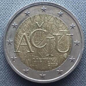 Lithuania 2 euro  2015  Lithuanian Language