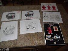 7 LOT ORIGINAL PINK PANTHER ART BURGER KING TOY PULL-BACK POLICE VAN & HYDRANT