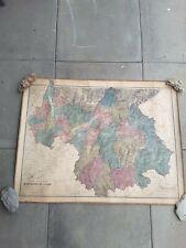 Carte physique de la Savoie Chambéry 1869 collection