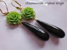 Brass Art Deco Costume Earrings