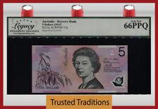 Tt Pk 57g 2012 Australia 5 Dollars Queen Elizabeth Ii Lcg 66 Ppq Gem New!
