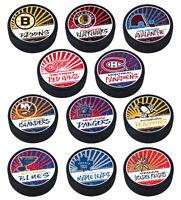 "2021 NHL Reverse Retro Logo Textured ""Raised Letters"" Classic Design Hockey Puck"