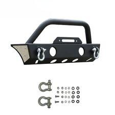 07-17 Jeep JK Wrangler Stubby Rock Crawler Front Bumper+Fog Light Ho+Winch Plate