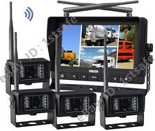 """7""""Wireless Agriculture Backup Camera System+4CCD Cameras"""