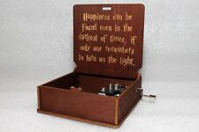 Happiness Can Be Found Turn On The Light - Harry Potter Music Box - Hand Crank