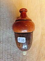 interrupteur ancien zeppelin/poire en bois-2 tons pour lampe-art déco