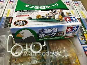 Tamiya 18087 1/32 Mini 4WD Car Kit Super II Chassis JR Hawk Racer