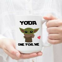 Yoda One For Me Funny Novelty Coffee Mug - Great Funny Gift Cup for Him Her