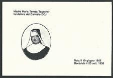 Estampa de la Madre Maria Teresa andachtsbild santino holy card santini