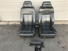 2006-2010 BMW E60 M5 FRONT SPORT DYNAMIC SEATS BLACK LEATHER POWER HEATED OEM