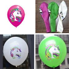 5/10pcs Tier Kinder Einhorn Ballon Kinder Latex Ballon Party Geburtstag Dekor