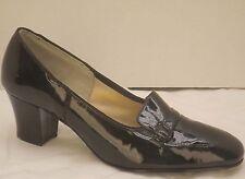 6-6.5 vtg 40s black patent leather MIRACLE TREAD secretary pumps heels shoes