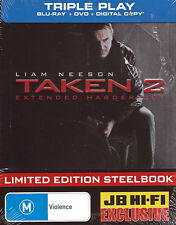 Taken 2 - Limited Edition Steelbook - Action / Thriller - NEW Blu-ray / DVD