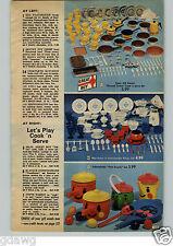 1972 PAPER AD Toy Set Corningware Blue Cornflower Coke Dispenser Kool Aid