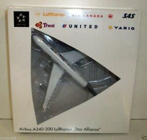 HERPA 1/500 - 516556 AIRBUS A340-200 LUFTHANSA 'STAR ALLIANCE'