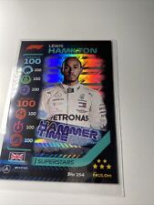 New listing Formula 1 Turbo Attax -🔥 Lewis Hamilton Hammer Time Foil 100 Club card Mercedes