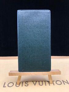 LV1986 LOUIS VUITTON Green Taiga Leather Bifold Long Wallet MAKE AN OFFER USA