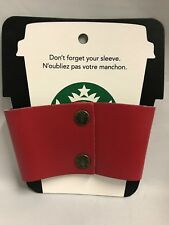 Starbucks Reusable Cup Sleeve ~ Red 80% Recycled Leather / 20% Natural Latex