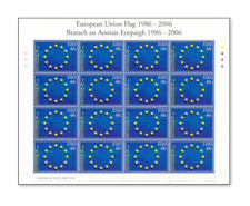 IRL0612ARK European Union flag FULL STAMP SHEET MNH IRELAND 2006